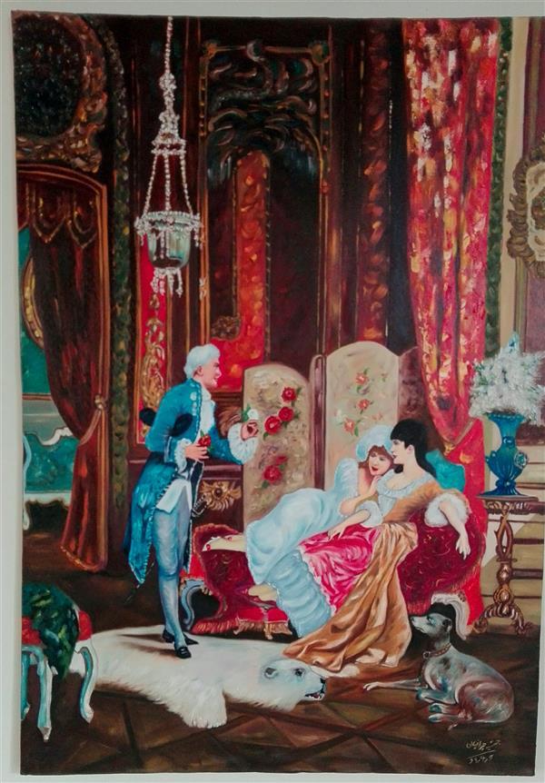 هنر نقاشی و گرافیک محفل نقاشی و گرافیک جمشید چراغیان تکنیک رنگ روغن سبک کلاسیک اندازه ۱۰۰/۷۰