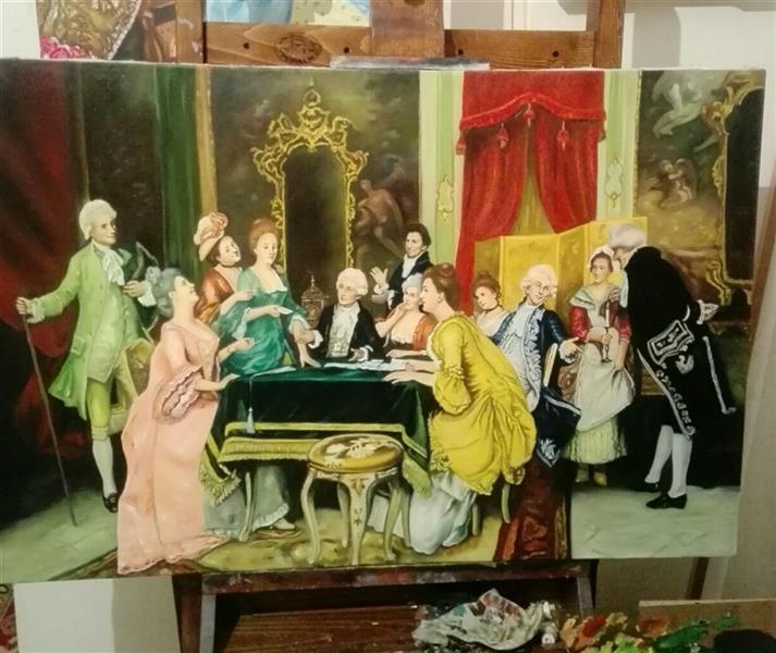 هنر نقاشی و گرافیک محفل نقاشی و گرافیک جمشید چراغیان تکنیک رنگ روغن نام اثر ناپلئون ابعاد ۱۰۰ در ۷۰