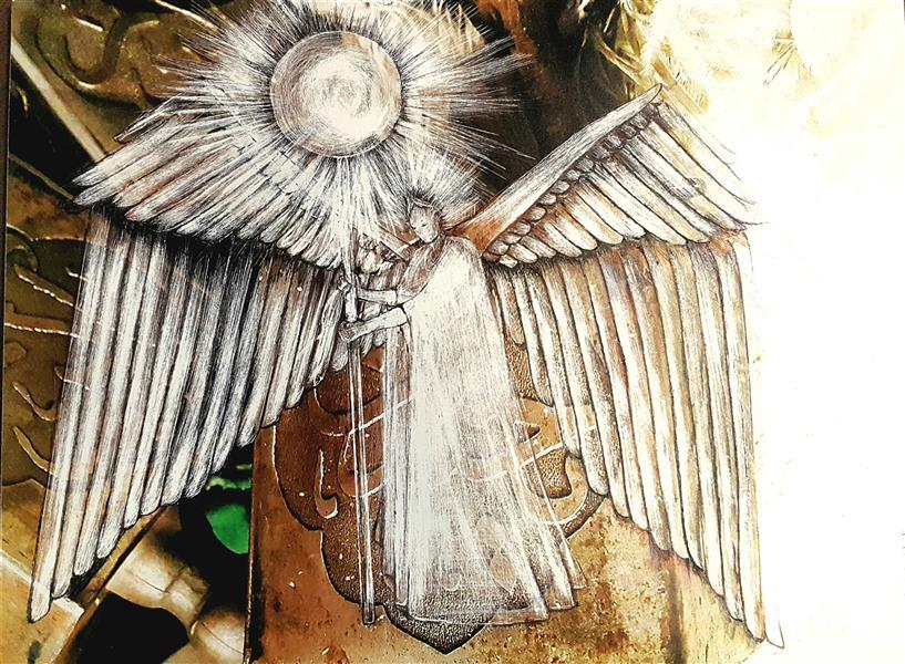 هنر نقاشی و گرافیک محفل نقاشی و گرافیک ویدا کریمی میرآبادی 30×40 cm اسکراچ روی عکس