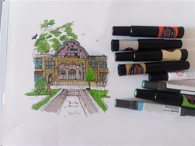 هنر نقاشی و گرافیک محفل نقاشی و گرافیک کاله یوزی اسکیس از مشیر دیوان سنندج