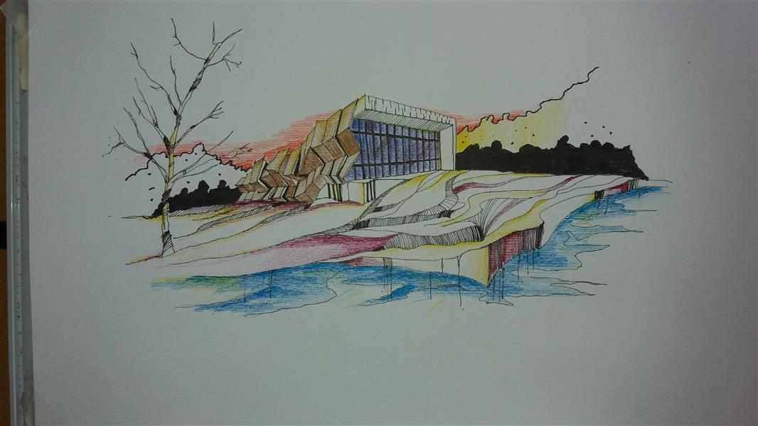 هنر نقاشی و گرافیک محفل نقاشی و گرافیک کاله یوزی اسکیس مدادرنگی#بهار 97