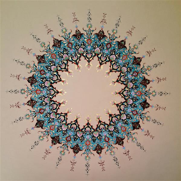 هنر نقاشی و گرافیک محفل نقاشی و گرافیک زینالی #شمسه#گواش#آبرنگ بر روی #مقوا_ماکت