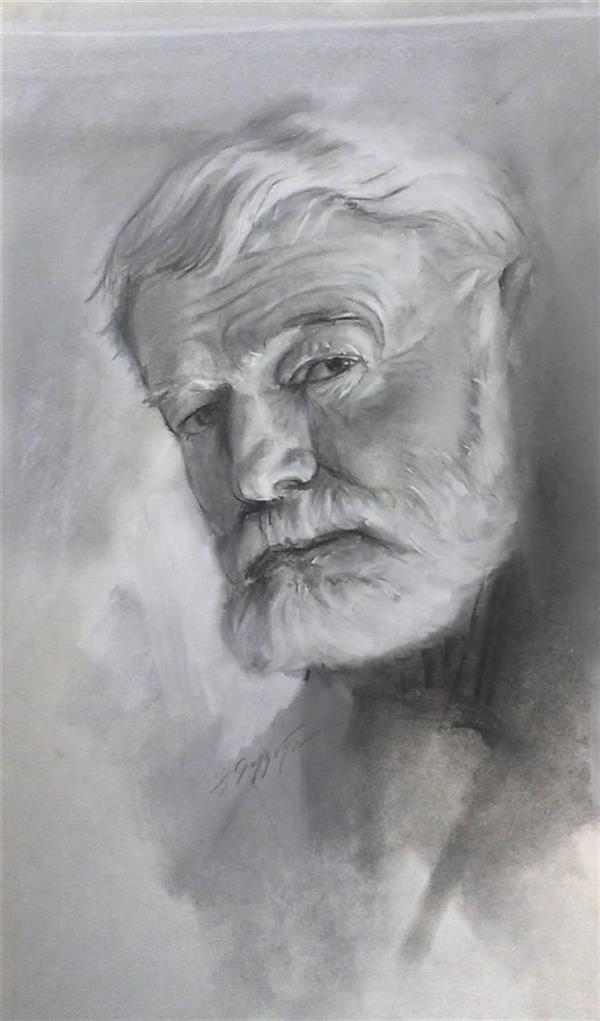 هنر نقاشی و گرافیک محفل نقاشی و گرافیک مجید غزنوی 🔴 #ارنست_همینگوی_نویسنده ۳۵×۴۵ #مداد_پاستل  #نقاش :مجید غزنوی 🔴 #Ernest_Hemingway_writer 35×45cm #pencil_pastel  #painter :Majid Ghaznavi @majidghaznaviart 🔴 @majidghaznavikhatart 🔴