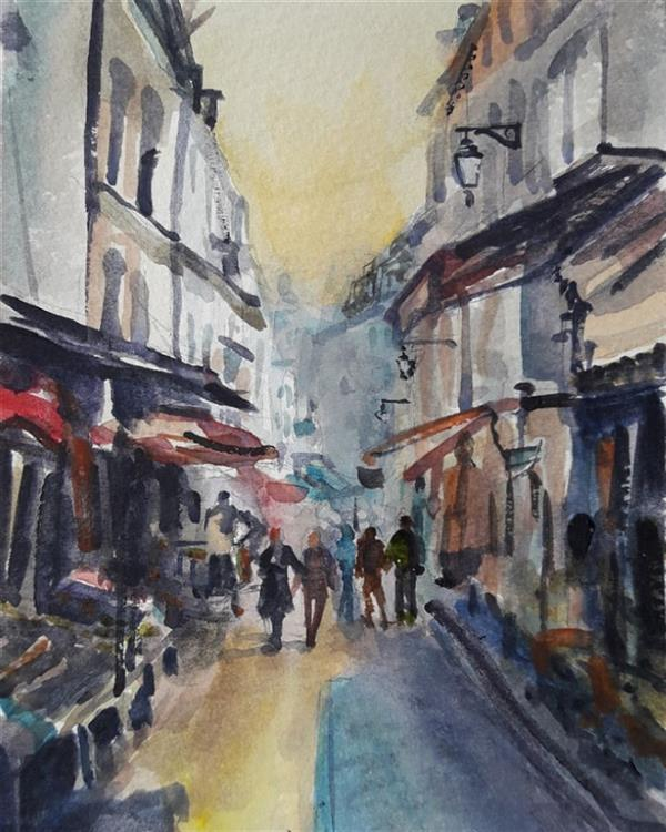 هنر نقاشی و گرافیک محفل نقاشی و گرافیک مجید غزنوی 🔴 #کوچه_های_بیروت ۱۵×۲۰ #آبرنگ  #نقاش :مجیدغزنوی 🔴 #Beirut 15×20cm #watercolor  By:Majid Ghaznavi @majidghaznaviart🔴 @majidghaznavikhatart🔴