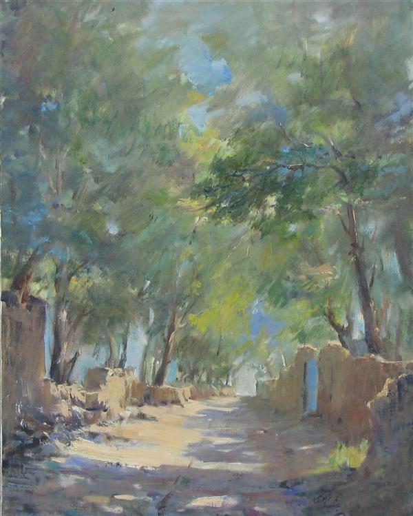 هنر نقاشی و گرافیک محفل نقاشی و گرافیک مجید غزنوی 🔴 #کوچه باغهای کن ( اطراف تهران) ۳۰ ×۴۰ #رنگ_روغن #نقاش :مجید غزنوی 🔴 #Garded_street (Kan_Tehran) 30×40cm #oil_on_canvas  #painter :Majid Ghaznavi @majidghaznaviart 🔴 @majidghaznavikhatart 🔴