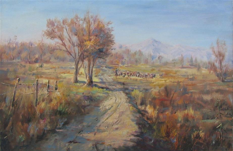 هنر نقاشی و گرافیک محفل نقاشی و گرافیک مجید غزنوی 🔴 #پائیز_اطراف_اصفهان ۴۰×۶۰ #رنگ_روغن_روی_بوم  #نقاش :مجید غزنوی 🔴 #Fall_around_Isfahan 40×60cm #oil_on_canvas  #painter :Majid Ghaznavi @majidghaznaviart 🔴 @majidghaznavikhatart 🔴