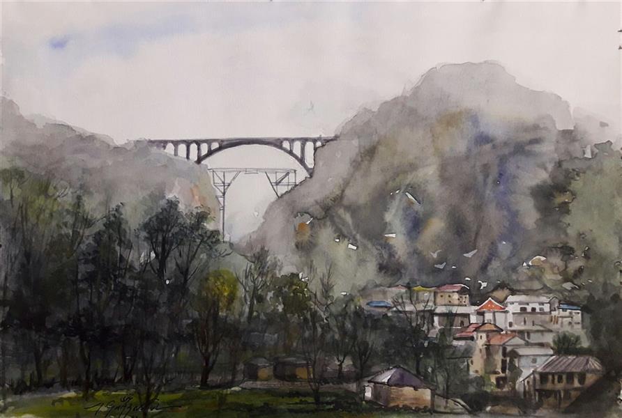 هنر نقاشی و گرافیک محفل نقاشی و گرافیک مجید غزنوی 🔴 #پل_ورسک ۳۳×۲۳ #آبرنگ #نقاش:مجید غزنوی 🔴 #Veresk_Bridge 33×23cm #watercolor By:Majid Ghaznavi @majidghaznaviart🔴 @majidghaznavikhatart🔴