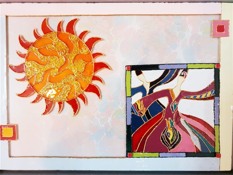 هنر نقاشی و گرافیک محفل نقاشی و گرافیک نیلوفر - زورو آنکه بی باده کند جان مرا مست کجاست؟، سایز A4، ویترای #مولانا#شراب#عشق#نور#خورشید#گرما#امید#دل#جان#مستی