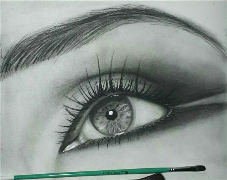 هنر نقاشی و گرافیک محفل نقاشی و گرافیک محمد محمدی تمرین چشم با پودر کنته