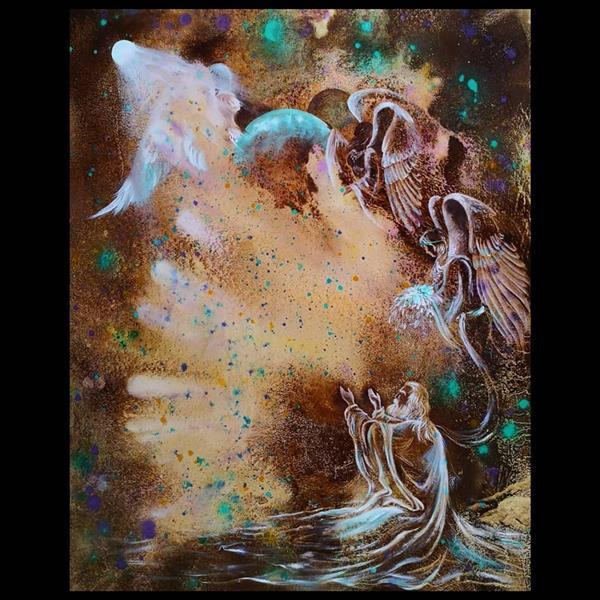 هنر نقاشی و گرافیک محفل نقاشی و گرافیک حسین هلالی نقاشی با#قهوه سایز 40 در 60