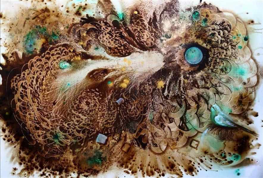 هنر نقاشی و گرافیک محفل نقاشی و گرافیک حسین هلالی #نقاشی#نقاشیخط#قهوه#نقاشی_قهوه
