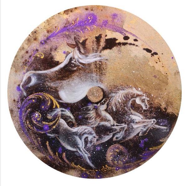 هنر نقاشی و گرافیک محفل نقاشی و گرافیک حسین هلالی #نقاشی با#قهوه #حسین_هلالی