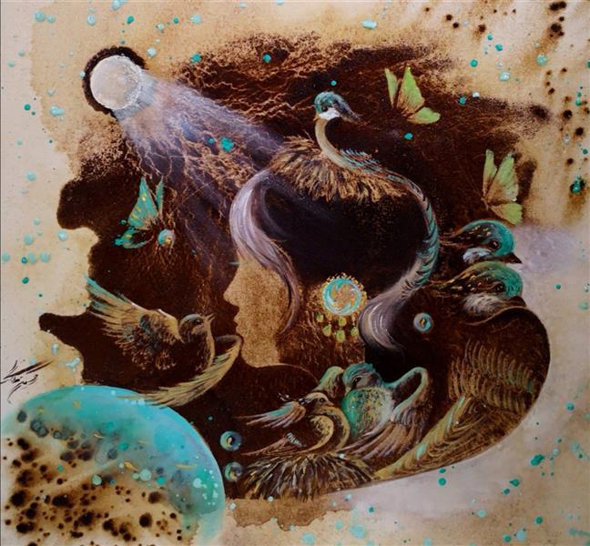 هنر نقاشی و گرافیک محفل نقاشی و گرافیک حسین هلالی نقاشی با #قهوه