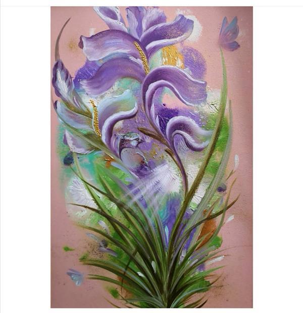 هنر نقاشی و گرافیک محفل نقاشی و گرافیک حسین هلالی #نقاشی#آبستره#گل