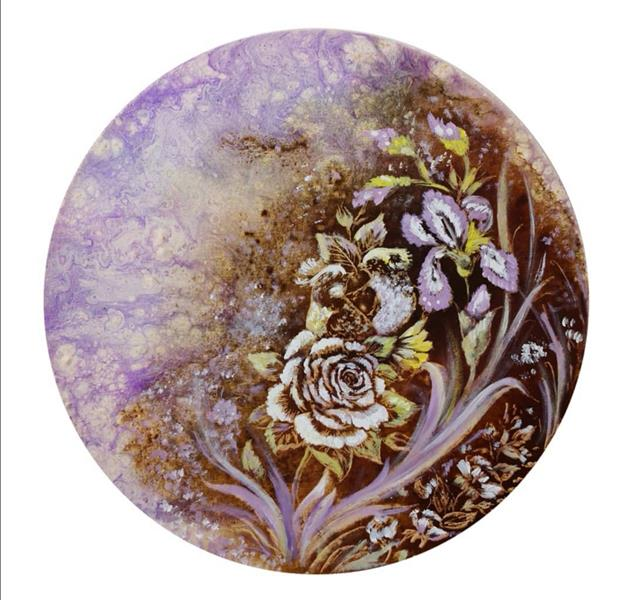 هنر نقاشی و گرافیک محفل نقاشی و گرافیک حسین هلالی نقاشی#آبستره و #قهوه