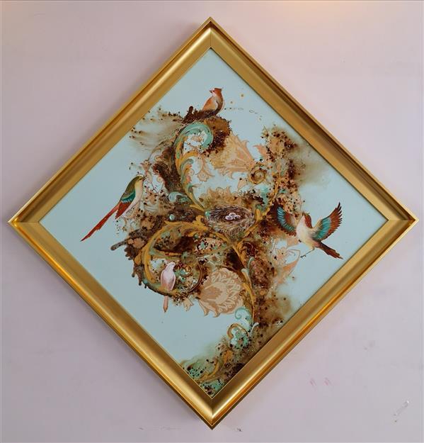 هنر نقاشی و گرافیک محفل نقاشی و گرافیک حسین هلالی #نقاشی#نقاشی_با_قهوه#نگارگری #تذهیب #اکریلیک #رنگ_روغن