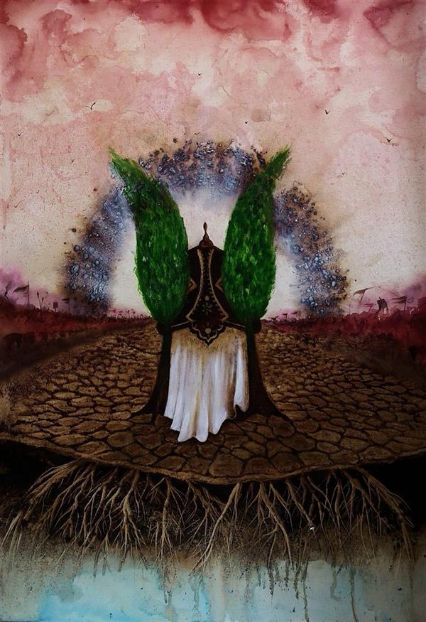 هنر نقاشی و گرافیک محفل نقاشی و گرافیک حسین هلالی نقاشی با #قهوه و#اکریلیک