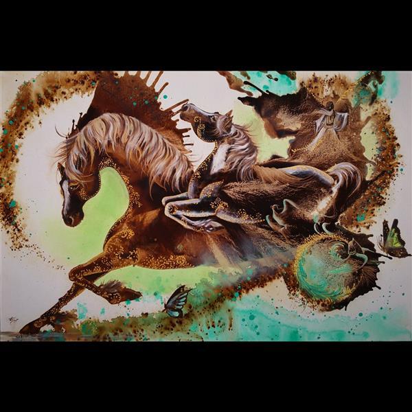 هنر نقاشی و گرافیک محفل نقاشی و گرافیک حسین هلالی نقاشی با #قهوه #سایز 80 در 120