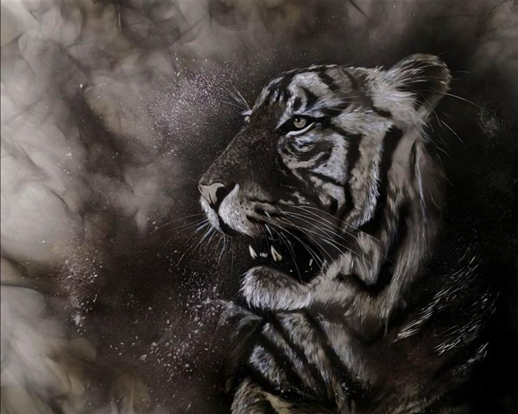 هنر نقاشی و گرافیک محفل نقاشی و گرافیک حسین هلالی #نقاشی با #شمع #سایز 60 در 40