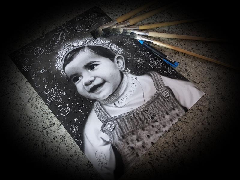 هنر نقاشی و گرافیک محفل نقاشی و گرافیک حسین هلالی #چهره#سیاه_قلم