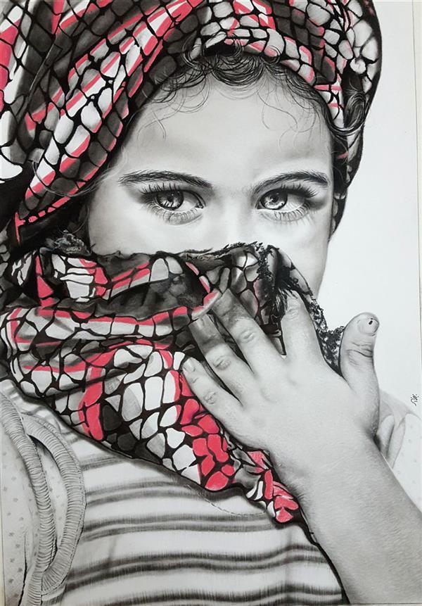 هنر نقاشی و گرافیک محفل نقاشی و گرافیک نازنین ملائکه نیکو #سیاه_قلم #پرتره