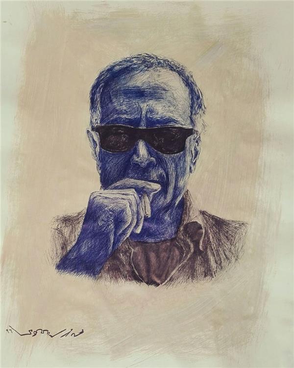 هنر نقاشی و گرافیک محفل نقاشی و گرافیک Mohammadmehran masoumi M.M.Masoumi  Kiarostami Pen 67×53 cm محمدمهران معصومی  خودکار ۶۷×۵۳cm کیارستمی    2017,۱۳۹۶