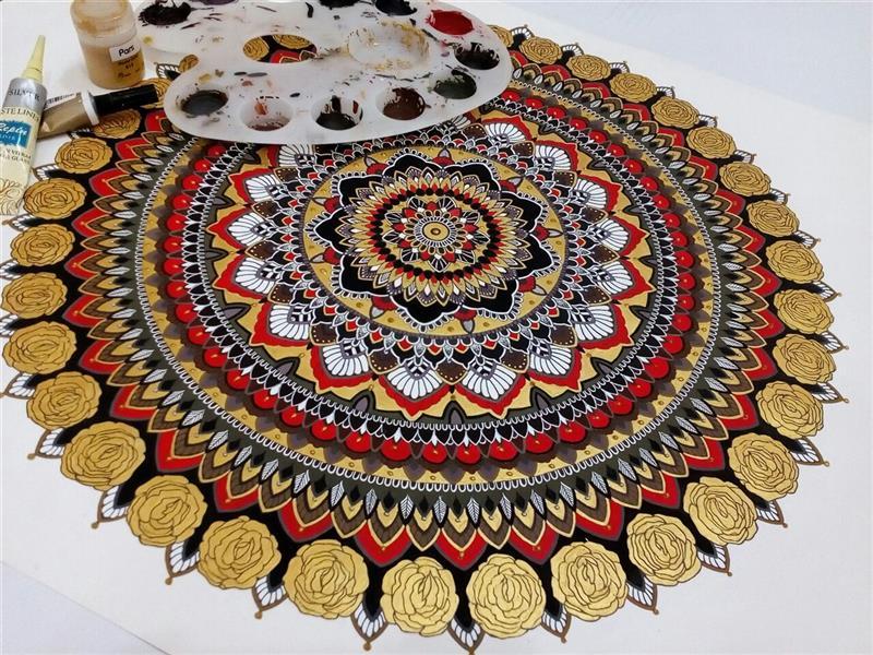 هنر نقاشی و گرافیک محفل نقاشی و گرافیک shekoufehart #ماندالا نوعی سبک از هنر نقاشی است،که ریشه این سبک متعلق به کشور هند میباشد.