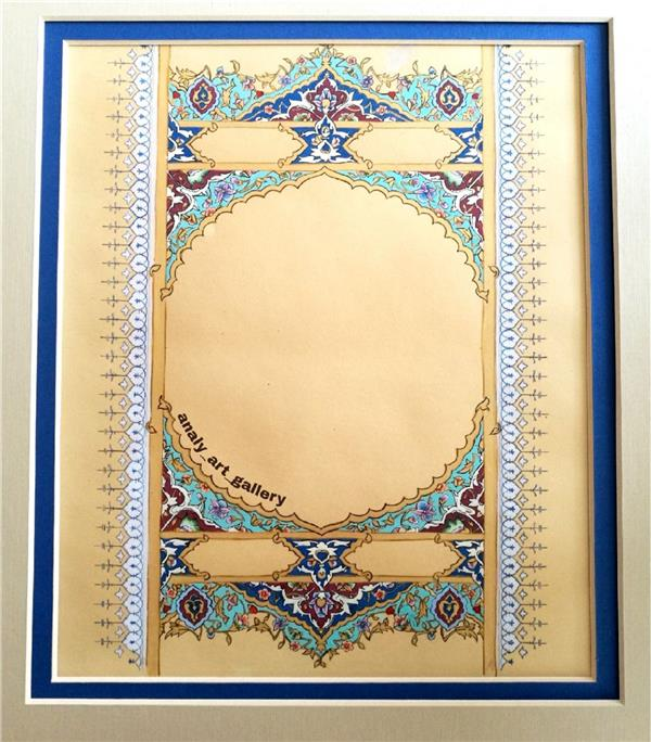 هنر نقاشی و گرافیک محفل نقاشی و گرافیک آرمیتا حسنی تابلوی #تذهیب #حاشیه_قرآنی سایز a3