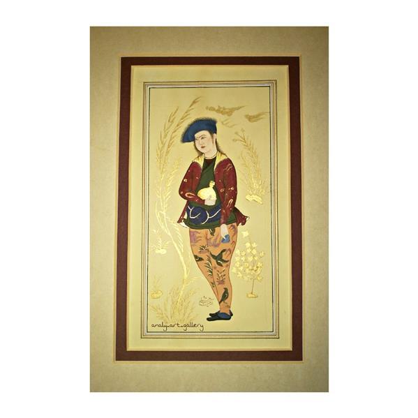 هنر نقاشی و گرافیک محفل نقاشی و گرافیک آرمیتا حسنی نقاشی #نگارگری  موضوع #شاهزاده  سایز A3 مقوای عهدباستان(چای خورده)
