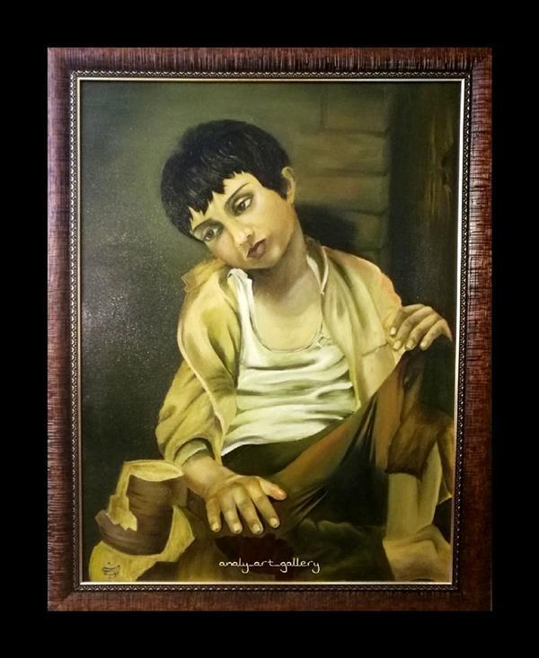 هنر نقاشی و گرافیک محفل نقاشی و گرافیک آرمیتا حسنی نقاشی تکنیک #رنگ_روغن سایز ۷۰*۵۰ موضوع #کودک_فقیر