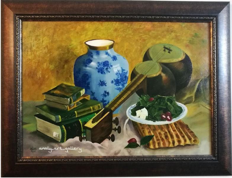 هنر نقاشی و گرافیک محفل نقاشی و گرافیک آرمیتا حسنی تابلوی #نون و پنیر تکنیک #رنگ_روغن سایز ۷۰*۵۰