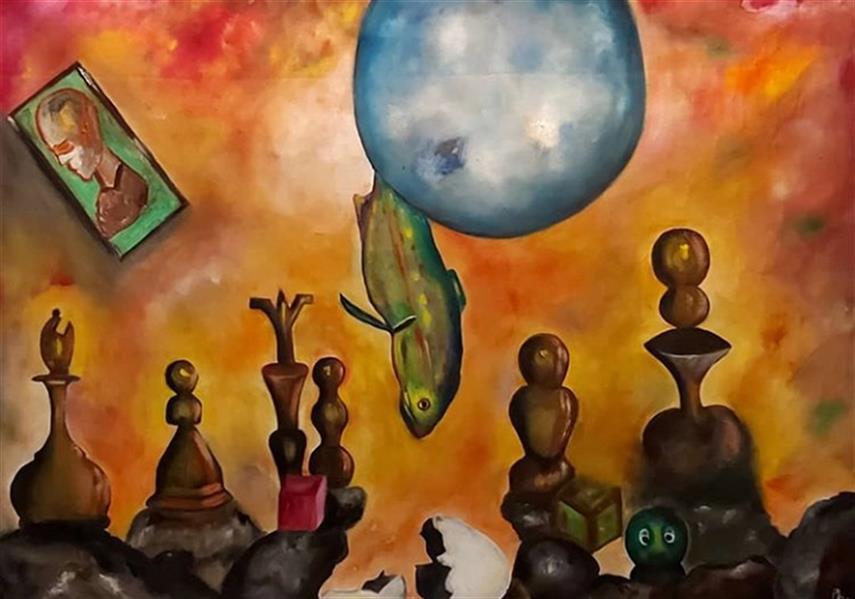 هنر نقاشی و گرافیک محفل نقاشی و گرافیک Pooyan sobhani رنگ روغن روی بوم ۶۰×۹۰ سانتیمتر