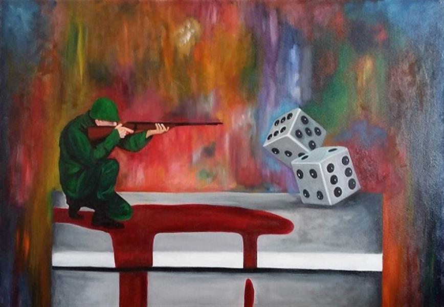 هنر نقاشی و گرافیک محفل نقاشی و گرافیک Pooyan sobhani رنگ روغن روی بوم ۱۰۰×۷۰ سانتیمتر