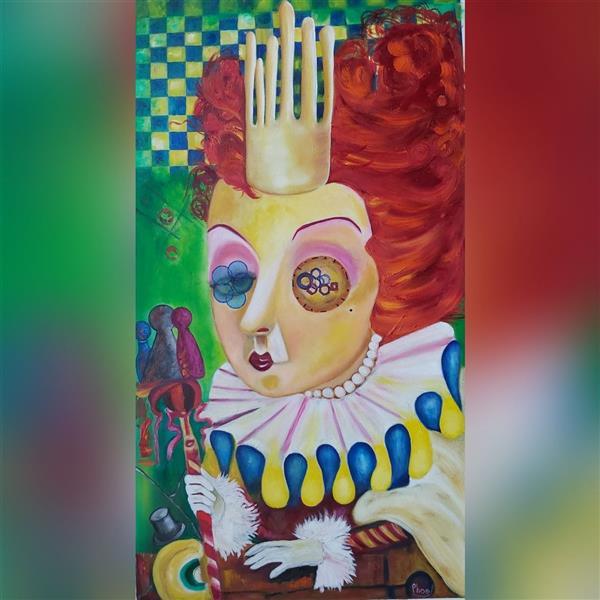 هنر نقاشی و گرافیک محفل نقاشی و گرافیک Pooyan sobhani رنگ روغن روی بوم ۱۰۰×۷۰سانتیمتر