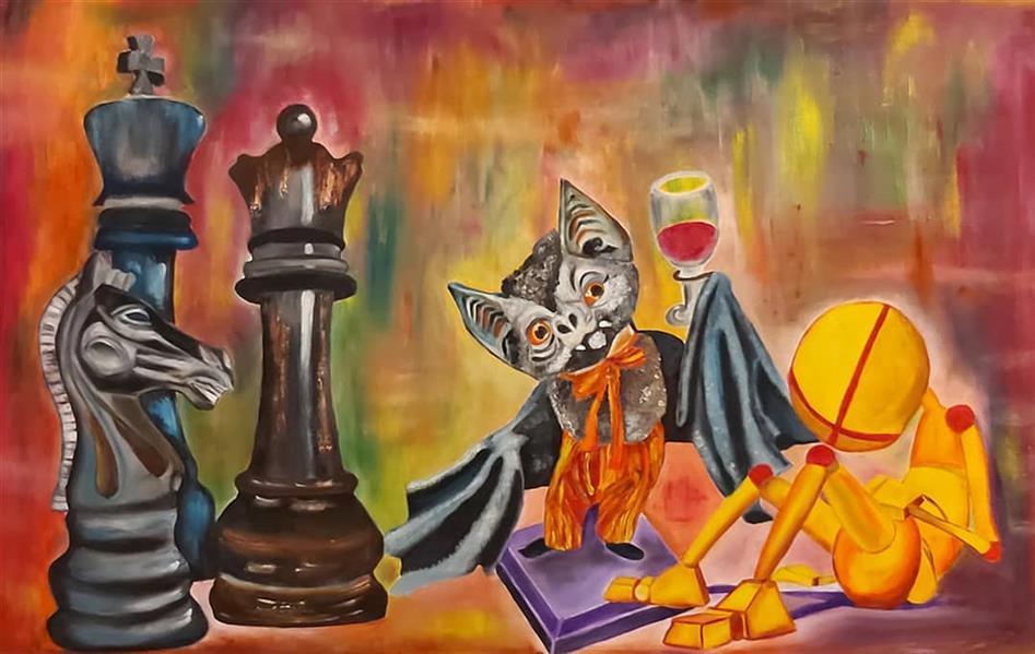هنر نقاشی و گرافیک محفل نقاشی و گرافیک Pooyan sobhani #رنگ_روغن_روی_بوم #پویان_سبحانی ۶۰×۹۰ سانتیمتر