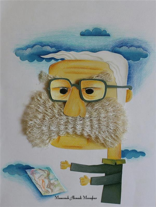 هنر نقاشی و گرافیک محفل نقاشی و گرافیک معصومه احمدی موقر چهره ماندگار  #تصویرسازی #تصویرگر #تصویرگری #کلاژ #مدادرنگی #تکنیک