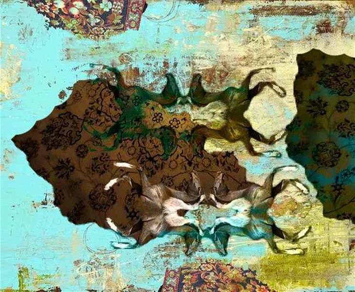 هنر نقاشی و گرافیک محفل نقاشی و گرافیک سیده فاطمه (لینا) عاقلی #تکنیک #میکس_مدیا #نقاشی #paint #mix_media