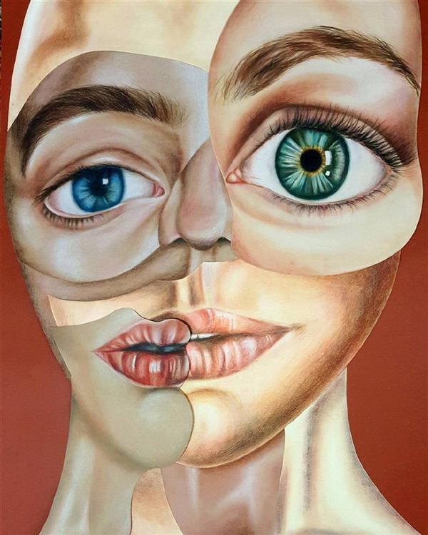 هنر نقاشی و گرافیک محفل نقاشی و گرافیک مهتاب صمدی شخصیت های متعدد ماسک هایی که همه ی ما در طول زندگی به چهره ی خود می زنیم و خود را با همه ی این تفاوت ها یک #من معرفی می کنیم