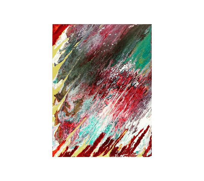 هنر نقاشی و گرافیک محفل نقاشی و گرافیک maedefadaei #اکریلیک_روی_بوم ۳۰*۴۰  #abstract_painting