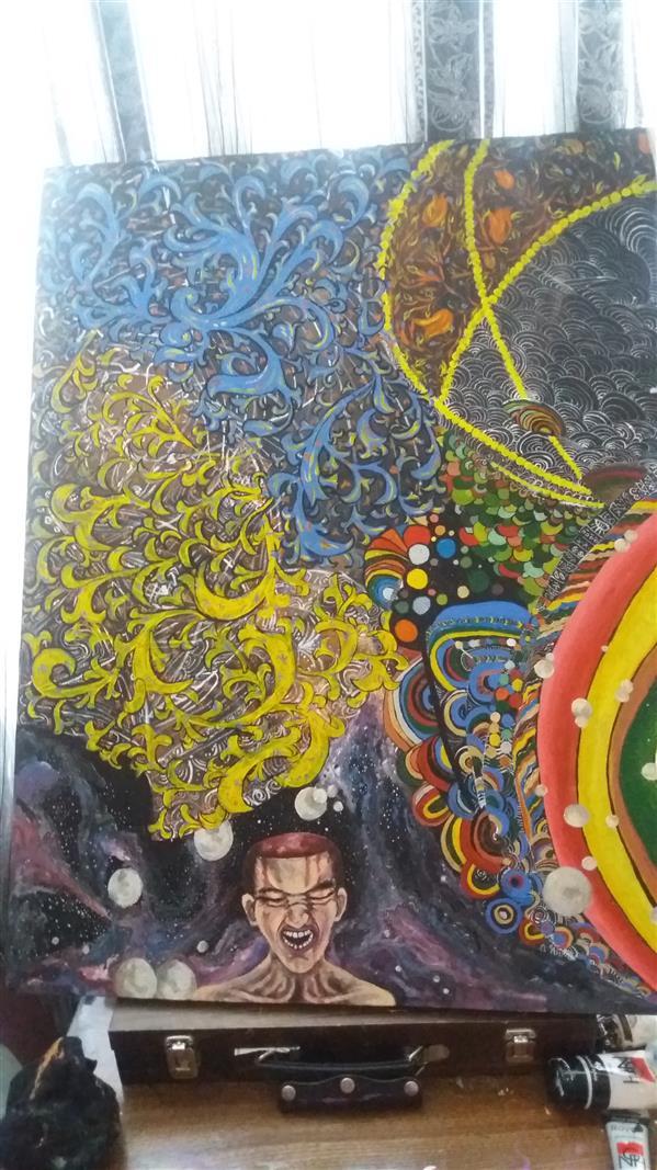 هنر نقاشی و گرافیک محفل نقاشی و گرافیک نگین عظیمی #هستی سورئال