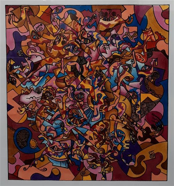 هنر نقاشی و گرافیک محفل نقاشی و گرافیک Siavash vatani کار در ابعاد ۴۱/۳۷ روی مقوا با سبک آبستره اجرا شده.تکنیک کار:مداد رنگی .تاریخ خلق اثر :۱۳۹۶