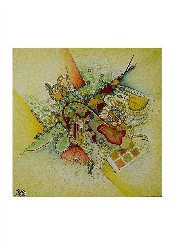 هنر نقاشی و گرافیک محفل نقاشی و گرافیک Siavash vatani تاریخ خلق اثر:۱۳۹۳کار در ابعاد ۸۰/۸۰ باسبک آبستره روی بوم اجرا شده.تکنیک : اکرلیک .این اثر در سال ۱۳۹۶ به ثبت ملی رسیده.