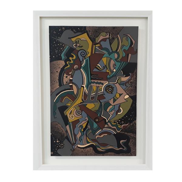 هنر نقاشی و گرافیک محفل نقاشی و گرافیک roya این اثر در ابعاد۶۵/۴۵ روی مقوا با اکرولیک اجرا شده.سال تولید اثر:۱۳۹۷ عنوان اثر:#خودنگاره