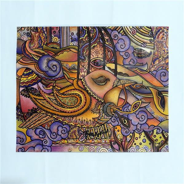هنر نقاشی و گرافیک محفل نقاشی و گرافیک roya سال تولید این اثر :۹۶  تکنیک اثر: مدادرنگی روی مقوا در ابعاد ۳۴×۲۸ .طرح کاملا ذهنی میباشد.