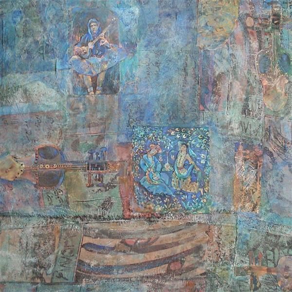 هنر نقاشی و گرافیک محفل نقاشی و گرافیک حسین اسماعیلی خاطره قومی /موسیقی#نقاشی#ترکیب مواد