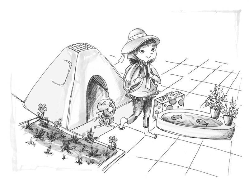 هنر نقاشی و گرافیک محفل نقاشی و گرافیک مرضیه امینی #تصویرسازی کتابِ الماس درون دختران/قطع رقعی/تکنیک ماژیک و روان نویس  #نشر آمیس