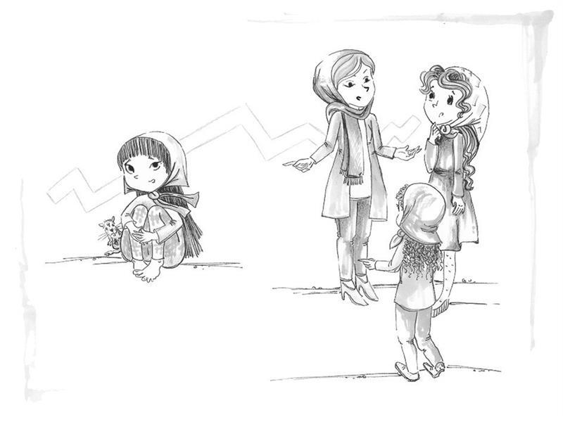 هنر نقاشی و گرافیک محفل نقاشی و گرافیک مرضیه امینی #تصویرسازی کتابِ الماس درون دختران/ قطع رقعی/ تکنیک ماژیک و روان نویس #نشر آمیس