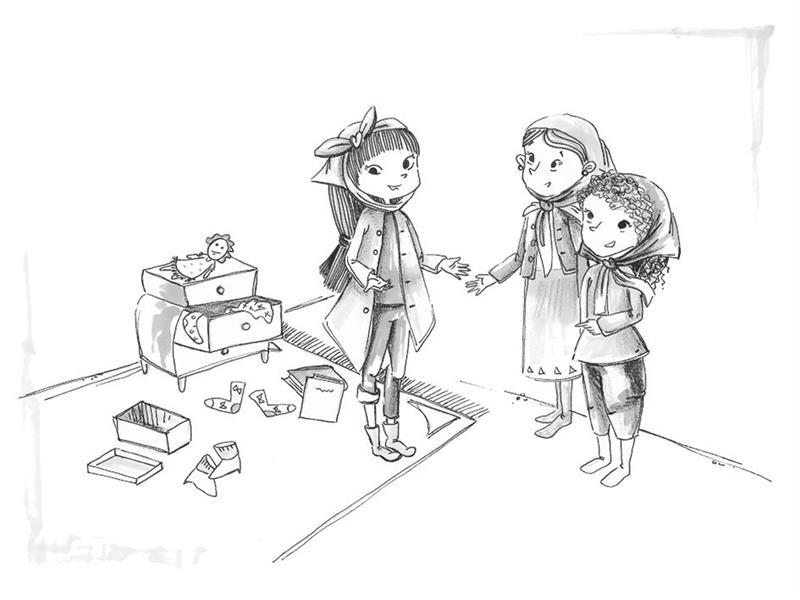 هنر نقاشی و گرافیک محفل نقاشی و گرافیک مرضیه امینی #تصویرسازی کتابِ الماس درون دختران/قطع رقعی/ تکنیک ماژیک و روان نویس #نشر آمیس
