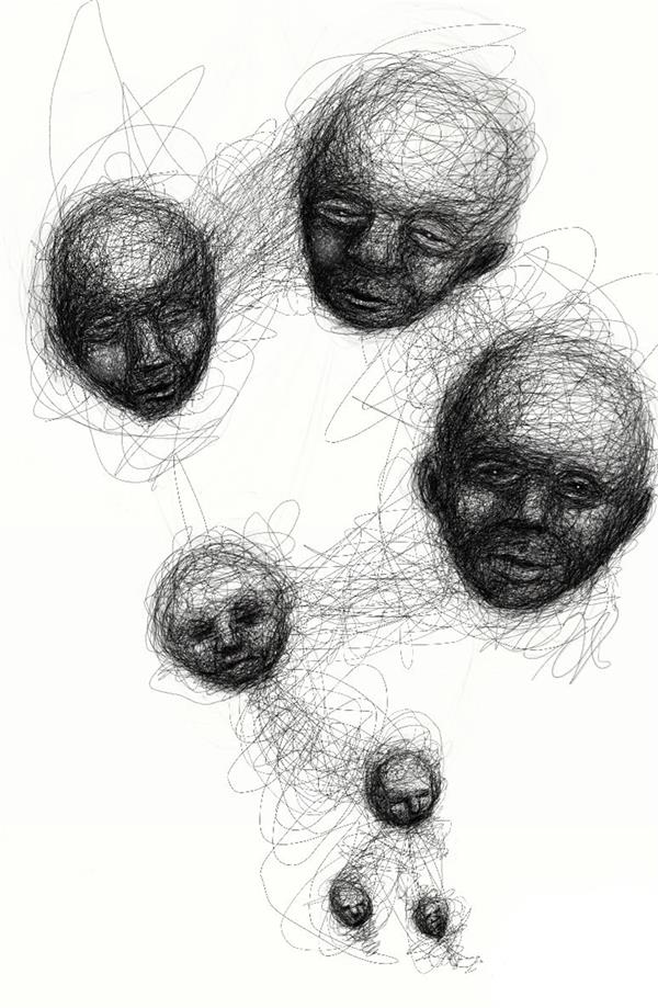 هنر نقاشی و گرافیک محفل نقاشی و گرافیک علی صفاریان #faces #digital