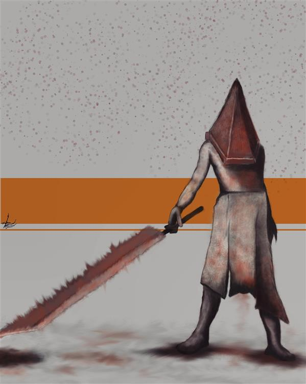 هنر نقاشی و گرافیک محفل نقاشی و گرافیک علی صفاریان pyramid head silent hill